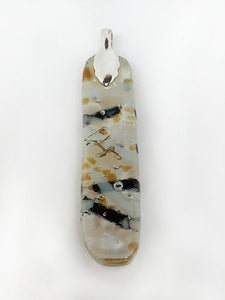 Bark Glass Pendant - back