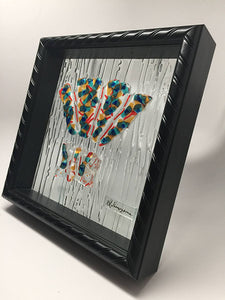 Fan Dance Framed Glass Wall Art