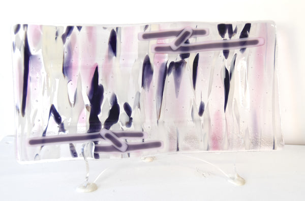 Functional Art - Rectangular Plate Pink and Purple