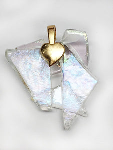 Glass Ceiling Pendant with Gold - back