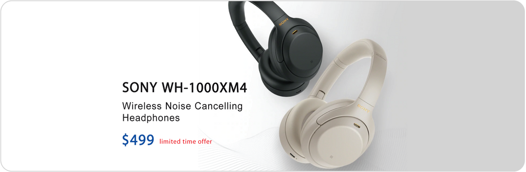 Sony WH-1000XM4 noise-canceling wireless headphones.