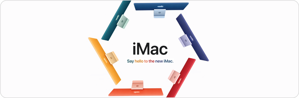 Apple's new colorful iMac series with M1 chip