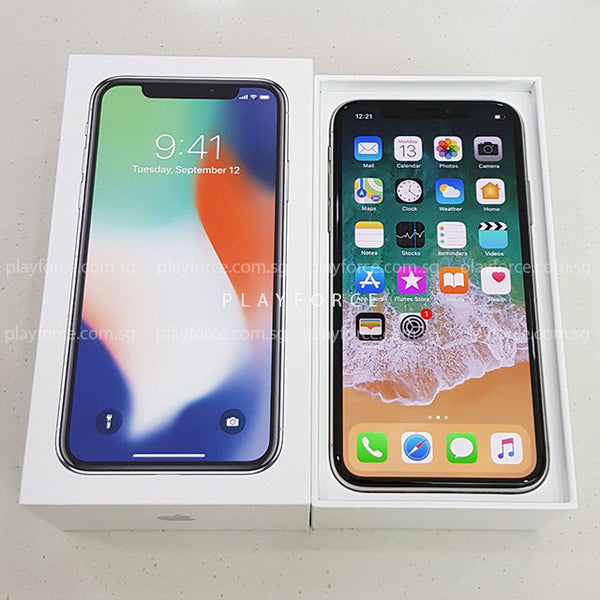 iPhone X (256GB, Silver)