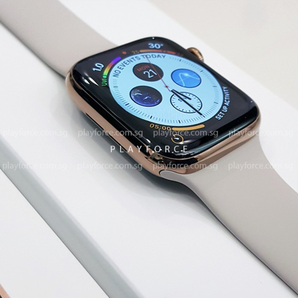 Apple Watch (Series 4, 44mm, Stainless Steel, GPS + Cellular)(AppleCare+)