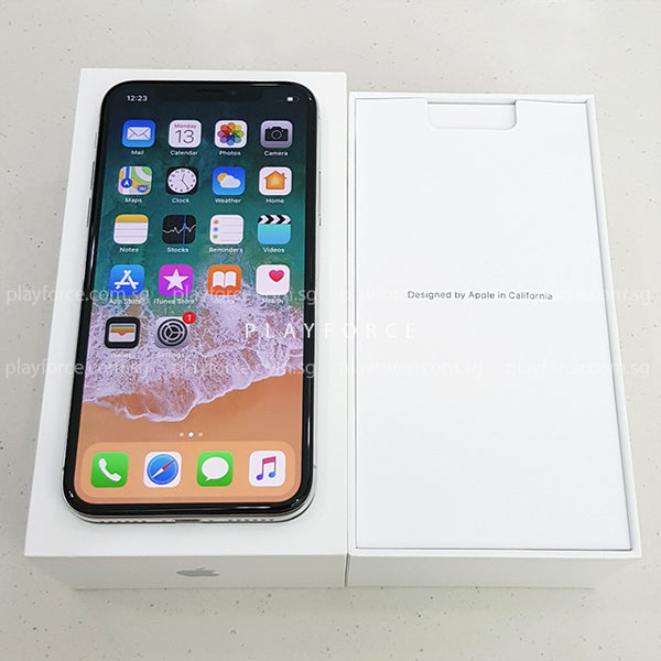iPhone X (64GB, Silver)