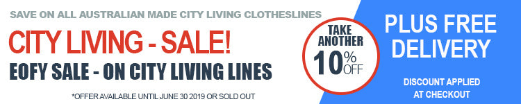 City Living Clotheslines EOFY Sale