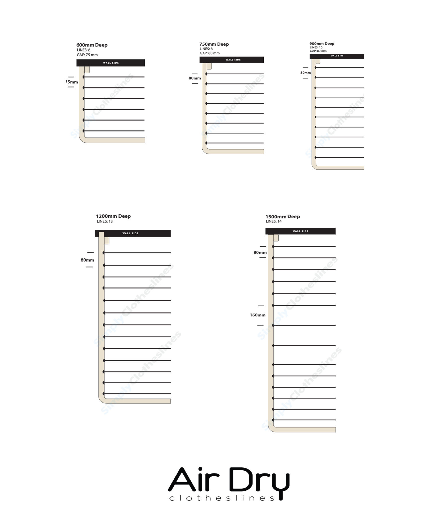 Air Dry Ready Made Line Spaces