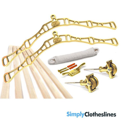 Kitchen Maid Six lath Supreme Ceiling Airer Clothesline Brass Parts