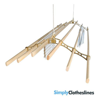 Kitchen Maid Six lath Supreme Ceiling Airer Clothesline  Brass