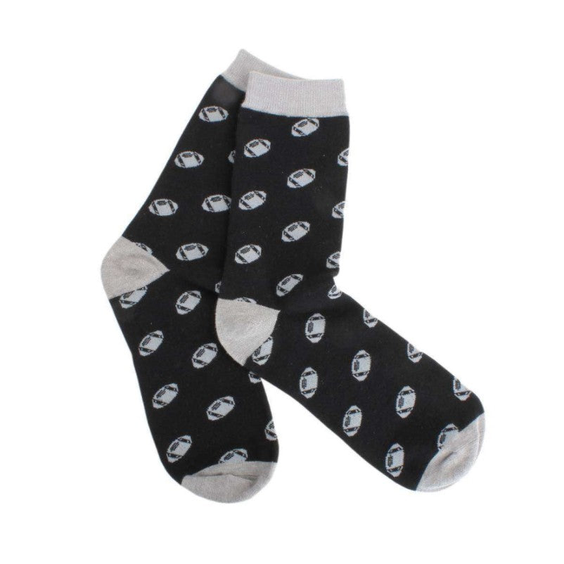 Rugby Socks – Black and Grey Combed Cotton - Theodore Designs