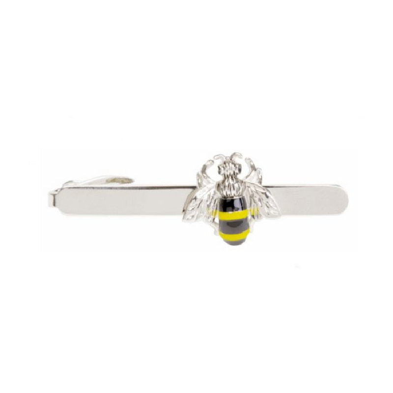 Bee Rhodium Plated Tie Clip - Theodore Designs