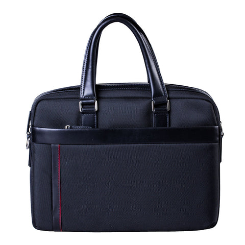 Cudworth Canvas/ Leather Briefcase Tote Bag - Theodore Designs