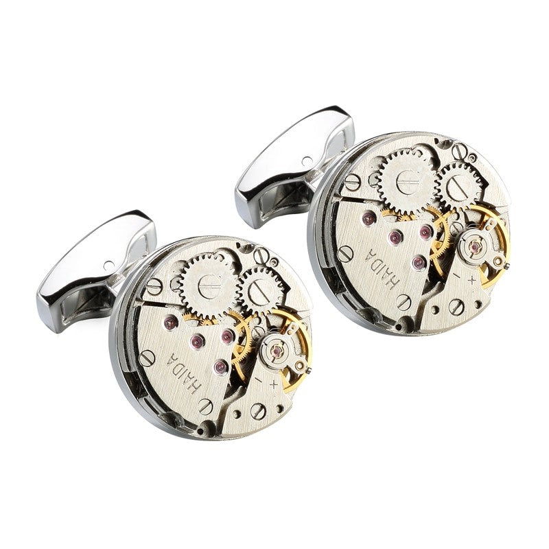 Theodore Stainless Steel Steampunk  Gear Cufflinks - Theodore Designs