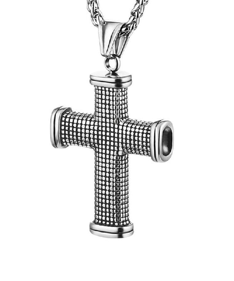 Large Stainless Steel Cross Necklace