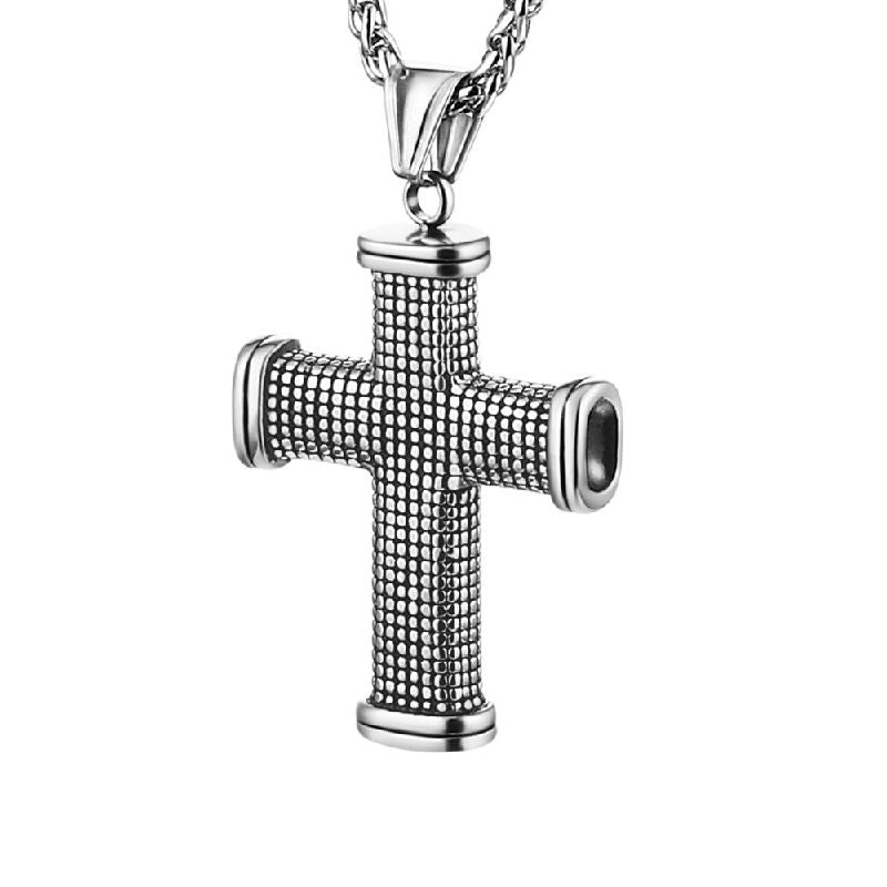 Theodore Large Stainless Steel Cross Necklace - Theodore Designs