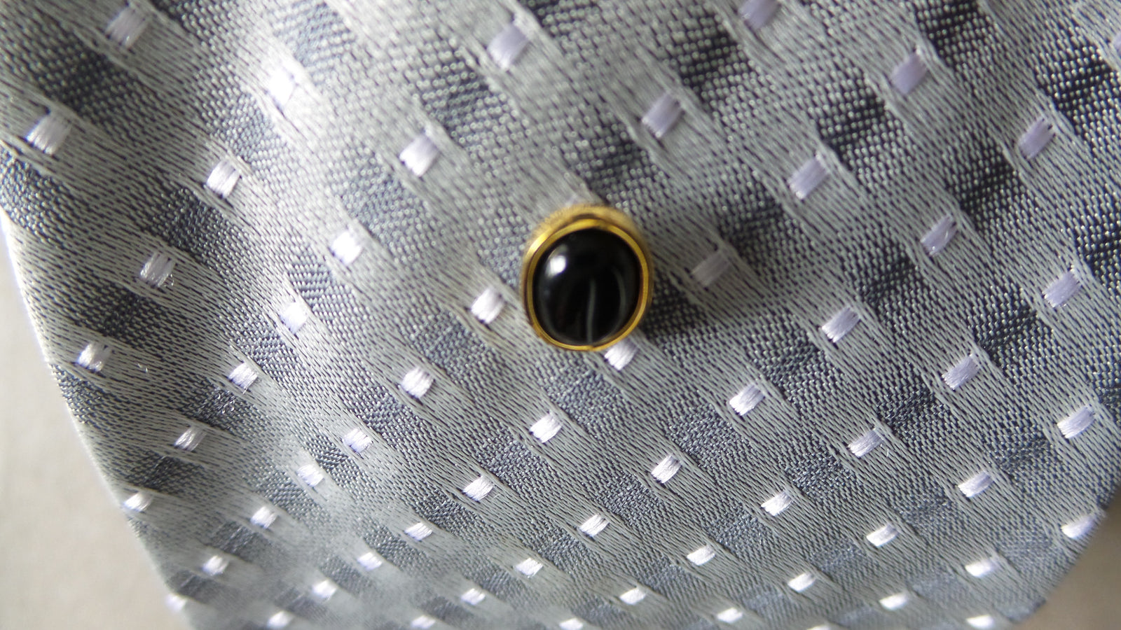 Onyx Oval Tie Pin - Theodore Designs
