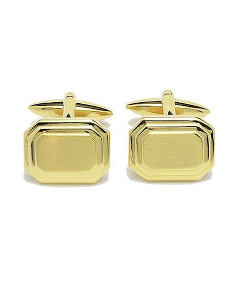 Gold Rectangular Cufflinks - Theodore Designs