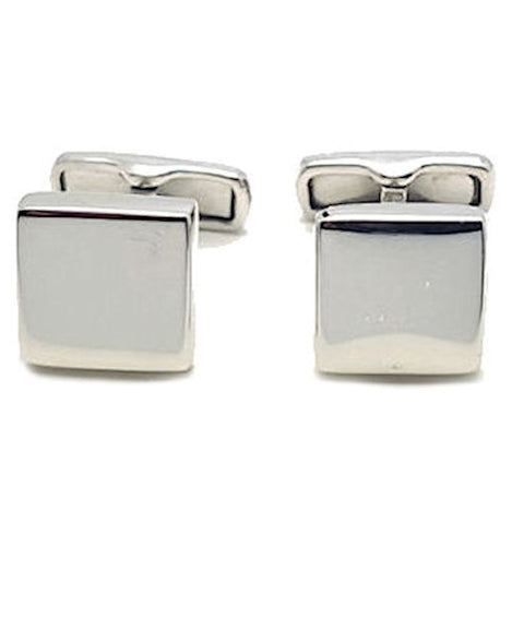 Theodore Sterling Silver Plain Square Cufflinks - Theodore Designs
