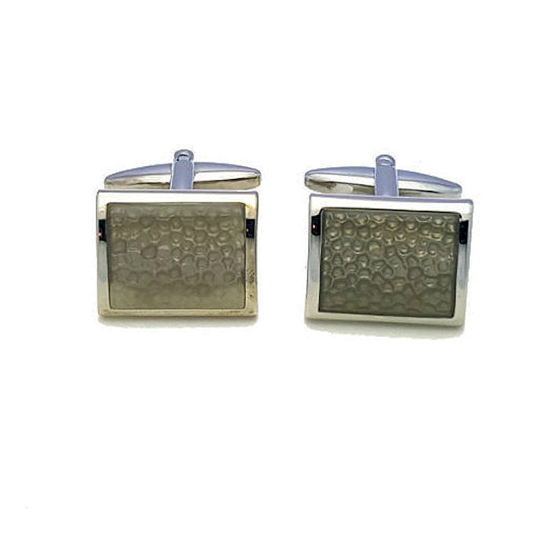 Charcoal Green Enamel Cufflinks - Theodore Designs