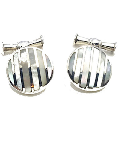 Sterling Silver Mother of Pearl Cufflinks - Theodore Designs