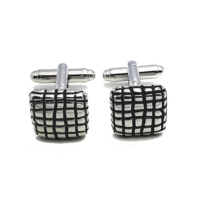 Theodore Striped Patterned Cufflinks - Theodore Designs