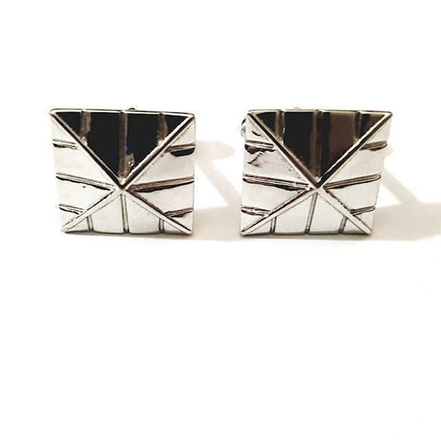 Theodore Sterling Silver Pyramid Cufflinks - Theodore Designs