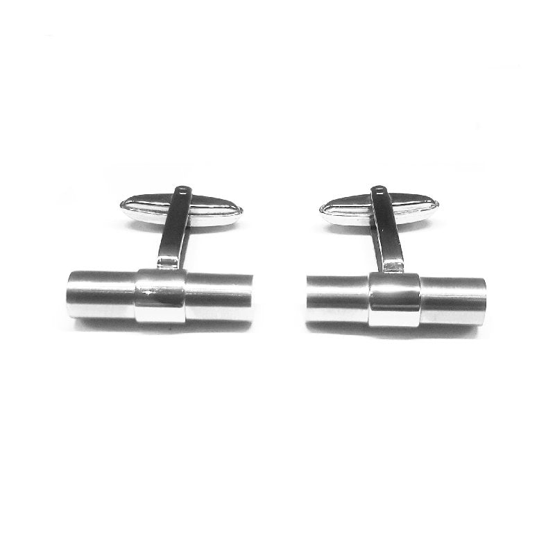 Cudworth Stainless Steel Tube Cufflinks - Theodore Designs