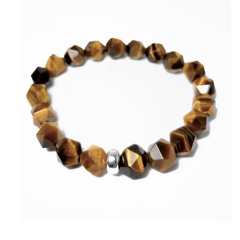 Theodore Tiger Eye and Silver Bead Bracelet - Theodore Designs