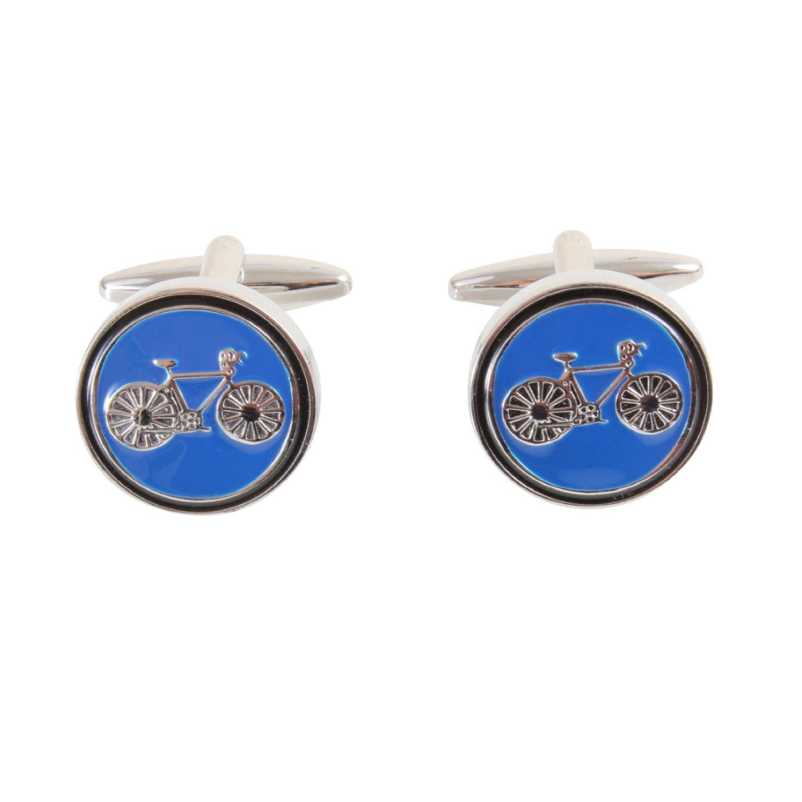 David Aster Bicycle Handkerchief & Cufflink Gift Set - Theodore Designs