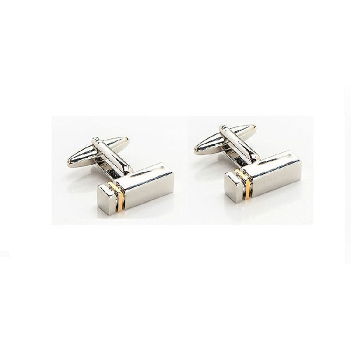 Cudworth Rhodium and Gold plated Cufflinks - Theodore Designs