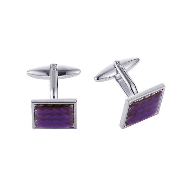 Theodore Purple Fibre Glass Cufflinks