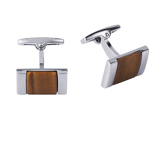 Tiger Eye Cufflinks - Theodore Designs