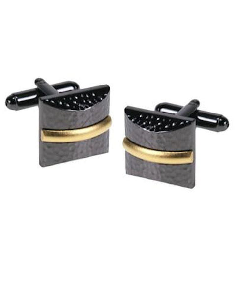 Black Rhodium and Rose Gold Cufflinks - Theodore Designs