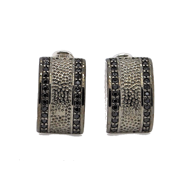Theodore Sterling Silver and Cubic Zirconia Cufflinks - Theodore Designs