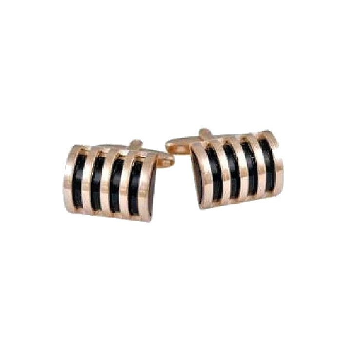 Gold Plated Dome Cufflinks - Theodore Designs