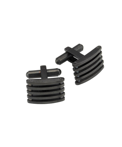 Theodore Stainless Steel and Black IP Plating Cufflinks