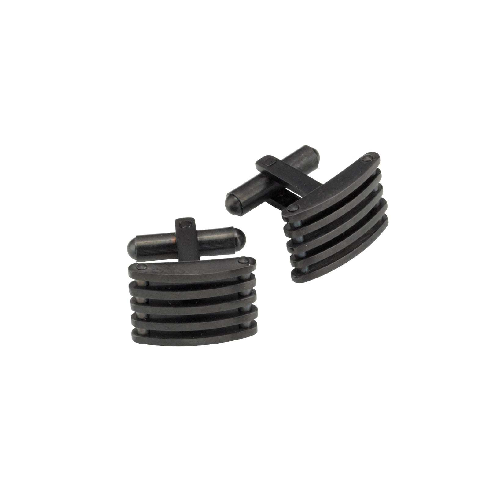 Theodore Stainless Steel and Black IP Plating Cufflinks - Theodore Designs