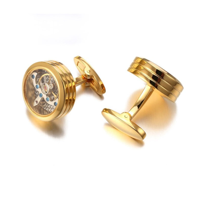 High Quality Mechanical Watch Steampunk Gear Cufflinks - Theodore Designs