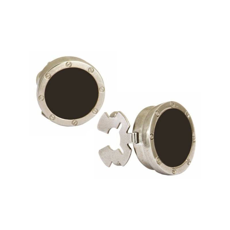 Button Cover Porthole Cufflinks - Theodore Designs