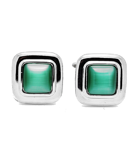 Green Cat's eye Cufflinks