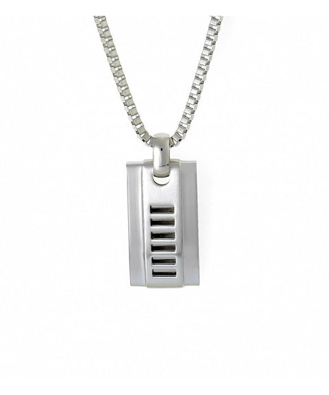 Cudworth Polished Stainless Steel Pendant with Cut-Out Pattern