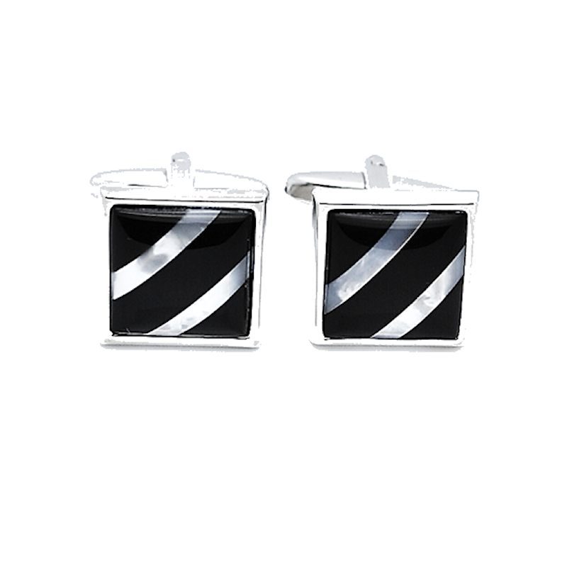 Mother of Pearl and Onyx Cufflinks - Theodore Designs