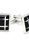 Theodore Black Onyx and Mother of Pearl Cufflinks - Theodore Designs