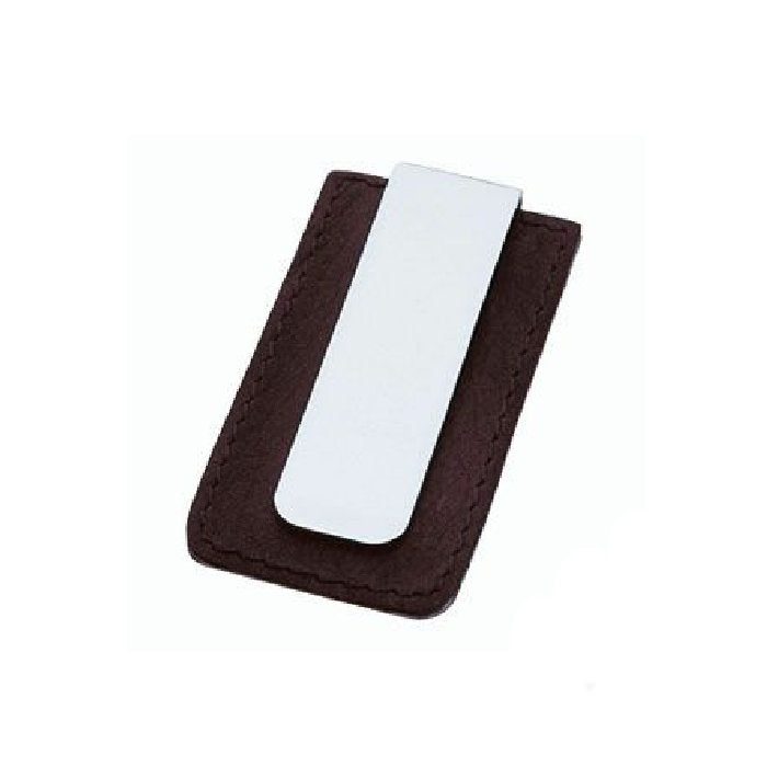 Stainless Steel  and Leather Money Clip - Theodore Designs