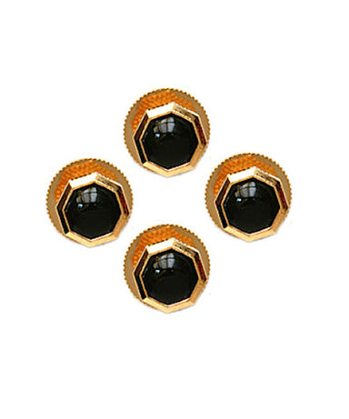 Onyx Hexagon Dress Stud Set - Theodore Designs