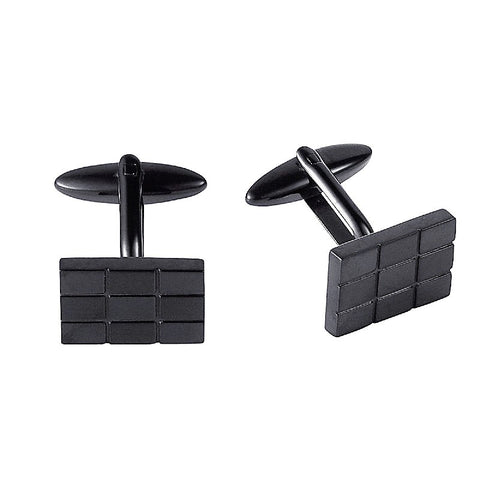 Cudworth Stainless Steel and Black IP Plating Cufflinks