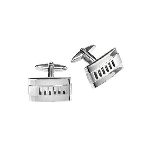 Cudworth Stainless Steel Grill Cufflinks