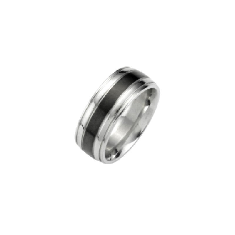 Polished Stainless Steel, Black Ion Plated and Matt IP Black Ring - Theodore Designs
