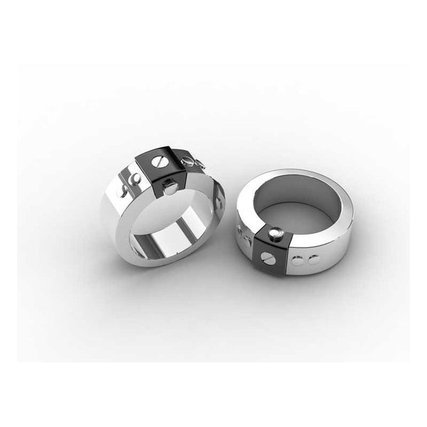 Stainless Steel/Ion Plated Black Ring