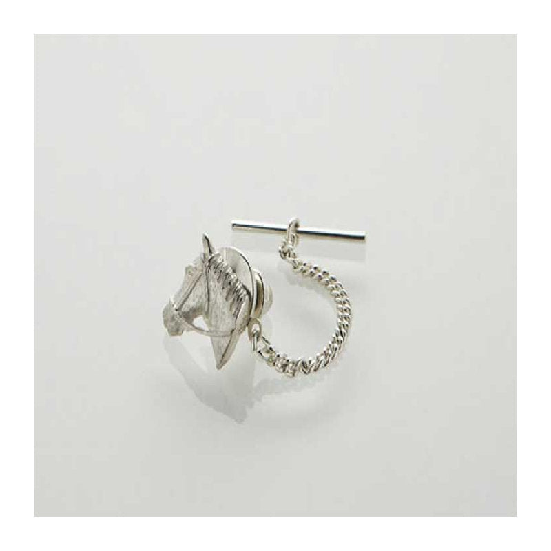Sterling Silver Horse Head Tie Tack - Theodore Designs